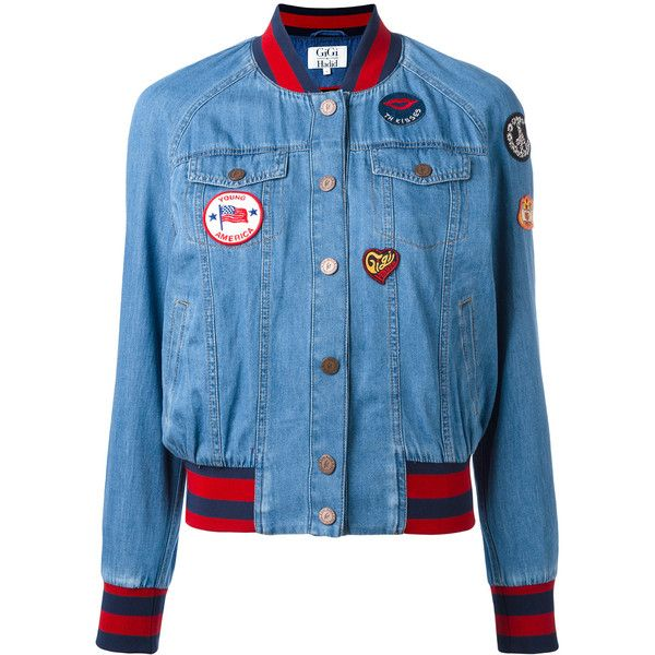Tommy Hilfiger denim bomber jacket (715 BRL) ❤ liked on Polyvore featuring outerwear, jackets, blue, flight jacket, blue jackets, bomber jackets, style bomber jacket and tommy hilfiger