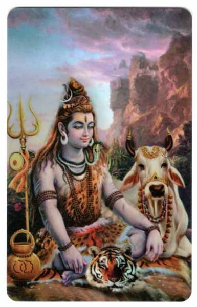 Lord Shiva Wallet Card
