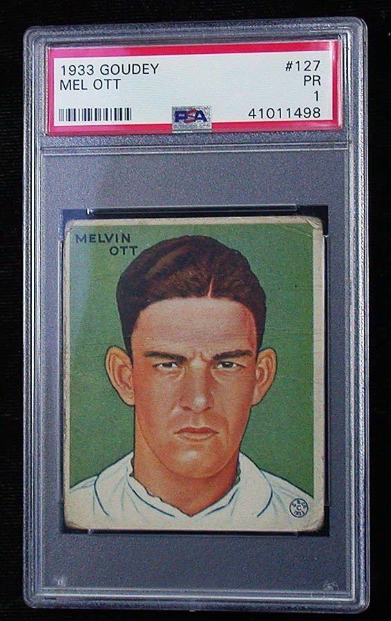 1933 Goudey Mel Ott Ny Giants 127 Psa Pr 1 Baseball Card Ec1791