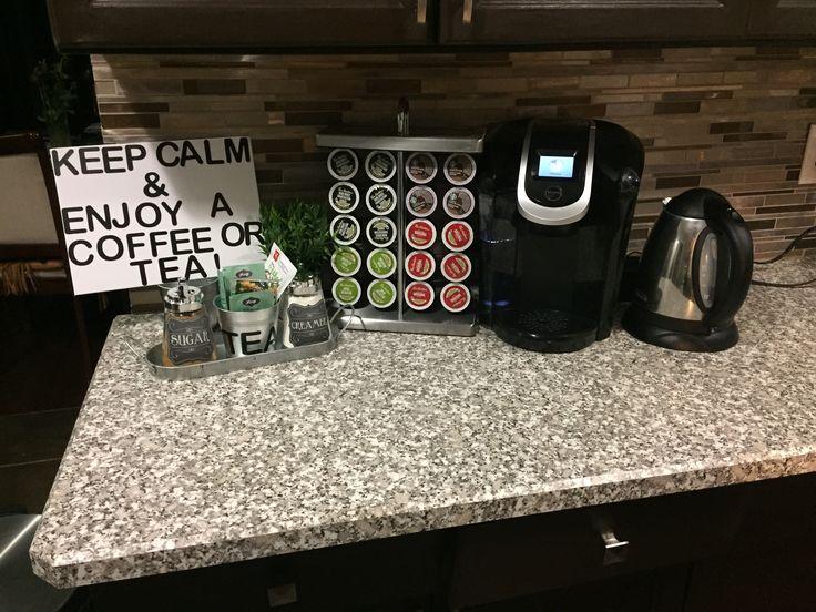 DIY coffee & tea ☕️ station ,had so much fun putting this coffee and tea bar together.