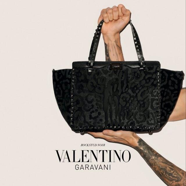 valentino noir rockstud cage flats sale