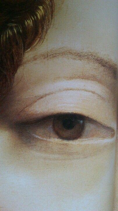 Portrait of Ginevra de' Benci. (Detail) Leonardo da Vinci (1474-1478)