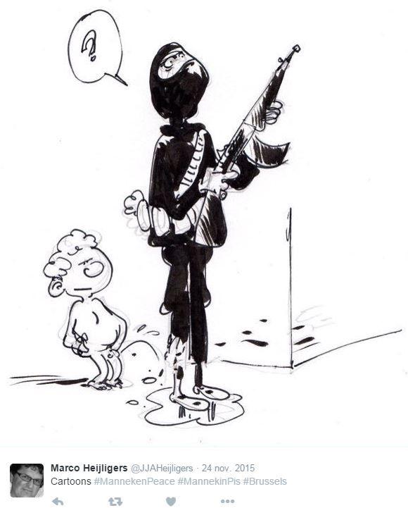 Comment le Manneken-Pis défie les terroristes