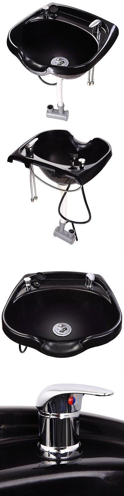 Backwash Units and Shampoo Bowls: Shampoo Plastic Bowl Hair Sink Barber Basin Beauty Salon Spa Equipment Hair Cut BUY IT NOW ONLY: $65.9