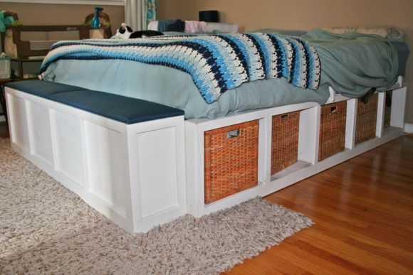 Platform storage bed build your own for the home for How to make your own platform bed