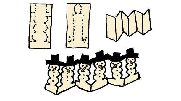 Klipp en girlang att ha på bordet eller fönsterbrädan. Ett fiffigt pyssel som är riktigt kul att göra.