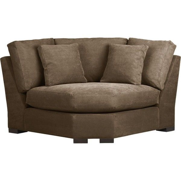 Crate & Barrel Axis Sectional Wedge $499 liked on