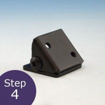 Universal Rail Bracket Angle Adapter for Fortress Cable Railing Panels
