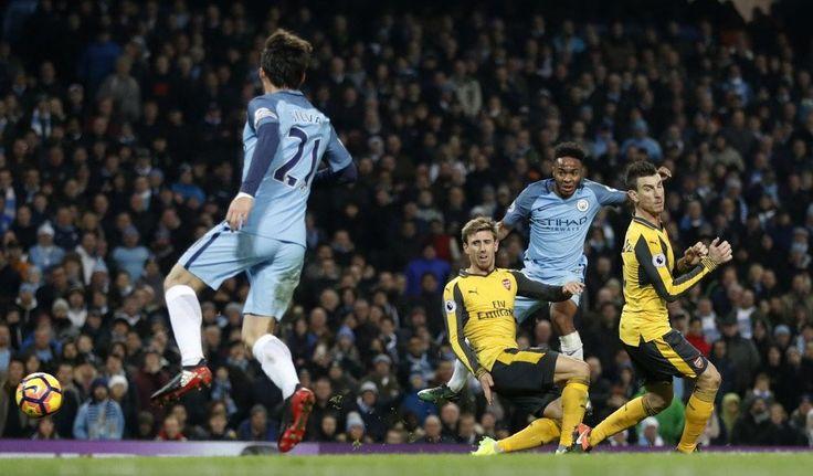 Cuplikan Gol Premier League Manchester City 2-1 Arsenal