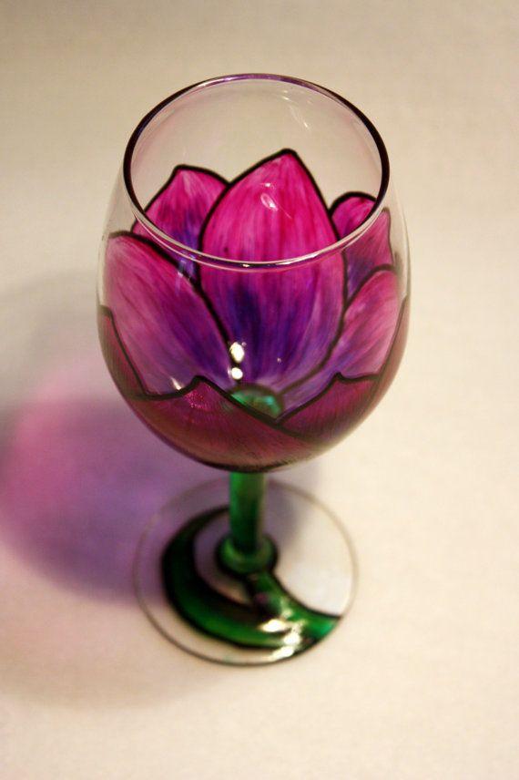 Tulip wine glass... Spring!