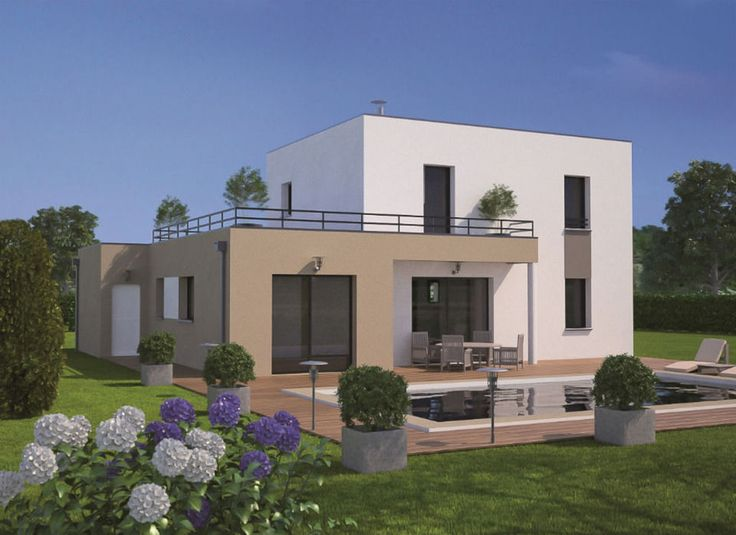 Favori Les 25 meilleures idées de la catégorie Maison moderne toit plat  RD74