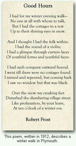 good a long time robert frost