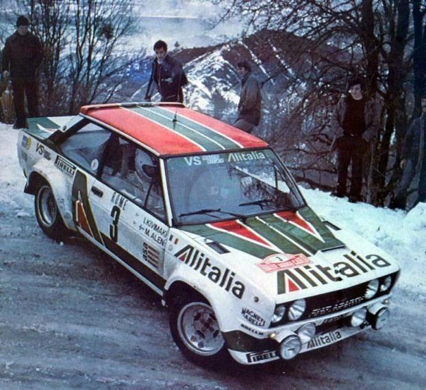 1979 Monte Carlo Rally Fiat 131 Abarth Drivers Markku Alen