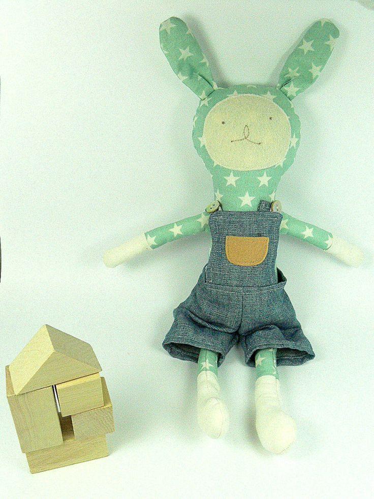 Bunny Doll  playset, Rag Doll, Dress up Doll, PEPPI by MiniwerkaToys on Etsy