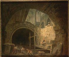 Hubert Robert, La Violation du Caveau des rois à Saint-Denis. Paris, Musée…