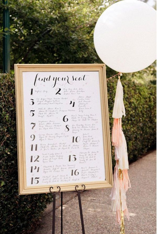 214 best Seating Chart \ Escort Cards images on Pinterest - wedding chart