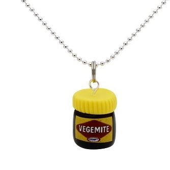 Happy Little Vegemite Necklace Handmade in Melbourne