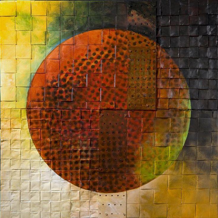 Solar Triptych by David Paul Bacharach (Metal Wall Sculpture) | Artful Home