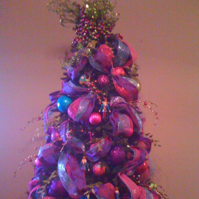 Christmas Tree Pink Purple Blue