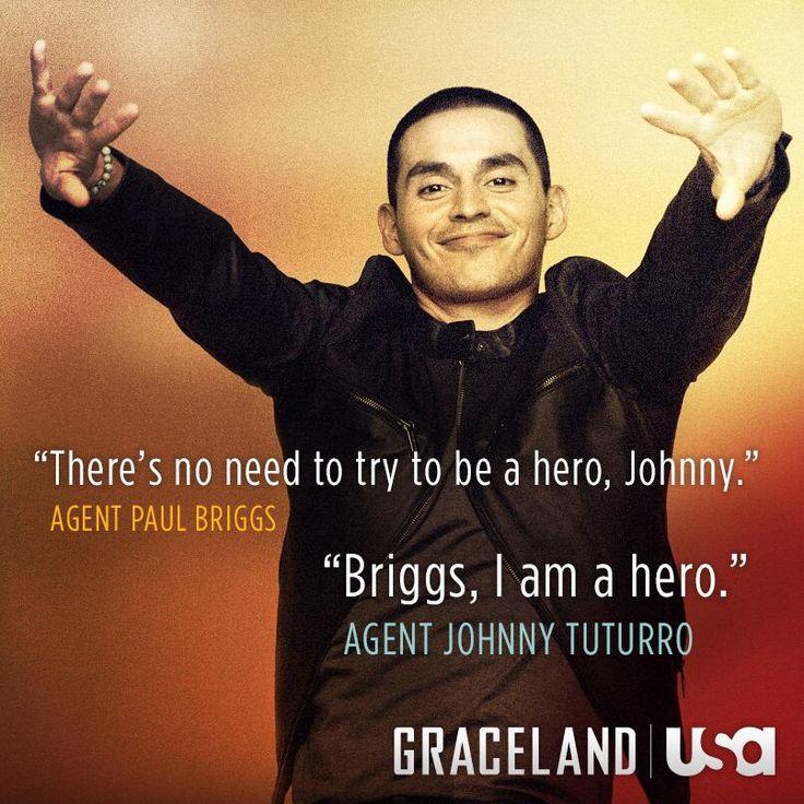 Johnny's MY hero. ;) hahah. #Graceland.