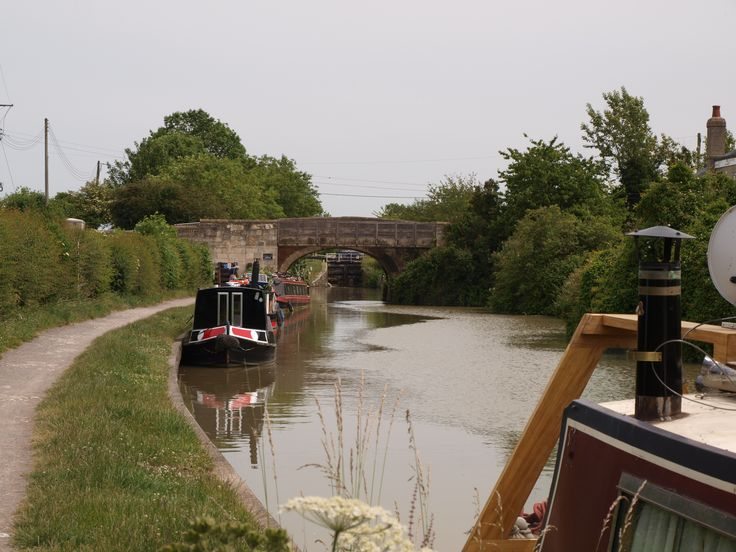 the Kennet and Avon Canal, near Devizes, Wiltshire...