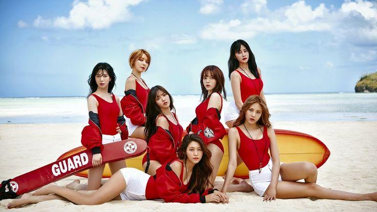AOA 'Good Luck' Official Teaser Image Photos on The Beach