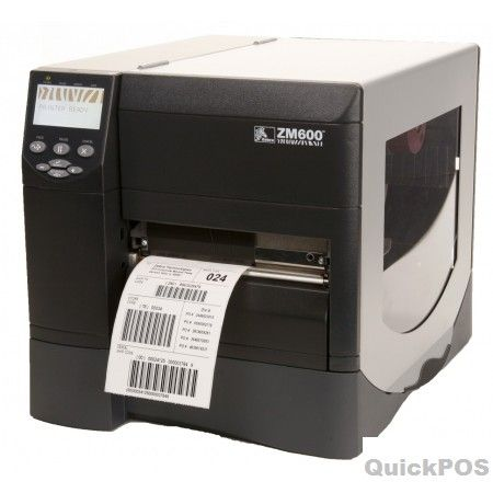 Zebra Zm600 Thermal Transfer Label Printer With 300 Dpi Print Head And Internal 10/100 Network Card The ZM600 printers bring added flexibility to the popular Z Series platform, which has always stood out from the competition in terms of both performance and price. With 10-inches-per-second print speed, industry-leading throughput, rugged reliability, and a wide selection of options, these full-sized metal printers enhance productivity in tough environments and demanding applications-POS…