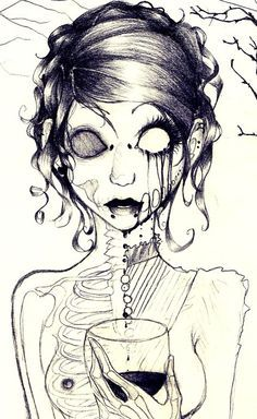 sketches of cute zombies - Google Search
