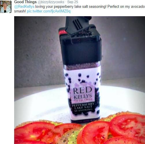 Did you invite Red Kellys Tasmania to join you for brekkie this morning? Our Twitter follower @bizzylizzycooks enjoyed our Pepperberry Lake Salt on her avocado and tomato toast just the other morning. It looks too pretty to eat! See what our other foodie Twitter followers are up to on Twitter here: www.twitter.com/redkellys