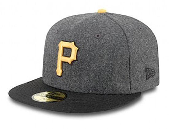 Custom Pittsburgh Pirates Wool Grey-Black 59Fifty Fitted Baseball Cap by NEW ERA x MLB