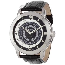 Stuhrling Original Men's World Traveler Swiss-Quartz Black Dial Watch, Amazon Lightning Deal 2/27/12 12-1PM PST, (List Price: $475) Deal Price: $74.99