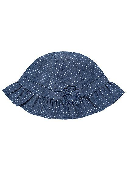 Denim Flower Sun Hat, read reviews and buy online at George at ASDA. Shop from our latest range in Baby. Protect your baby's precious skin from the sun in th...
