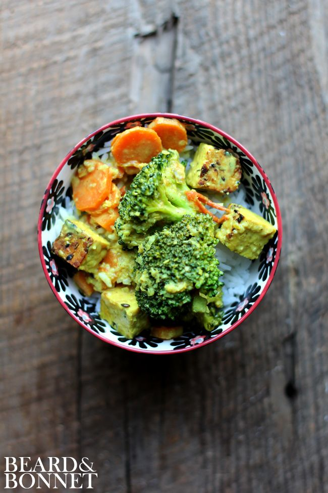 Lemongrass Curry with Broccoli and Tempeh