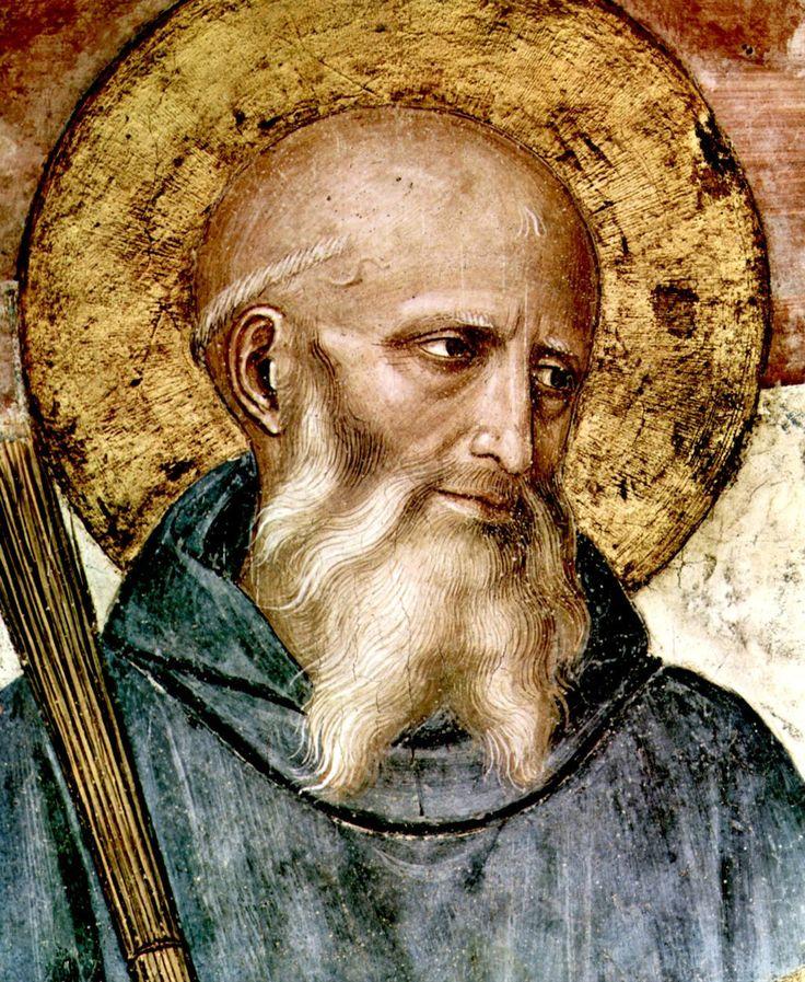 Fra Angelico. Портрет San Benito de Nursia (480-547) -основателя ордена бенедиктинцев