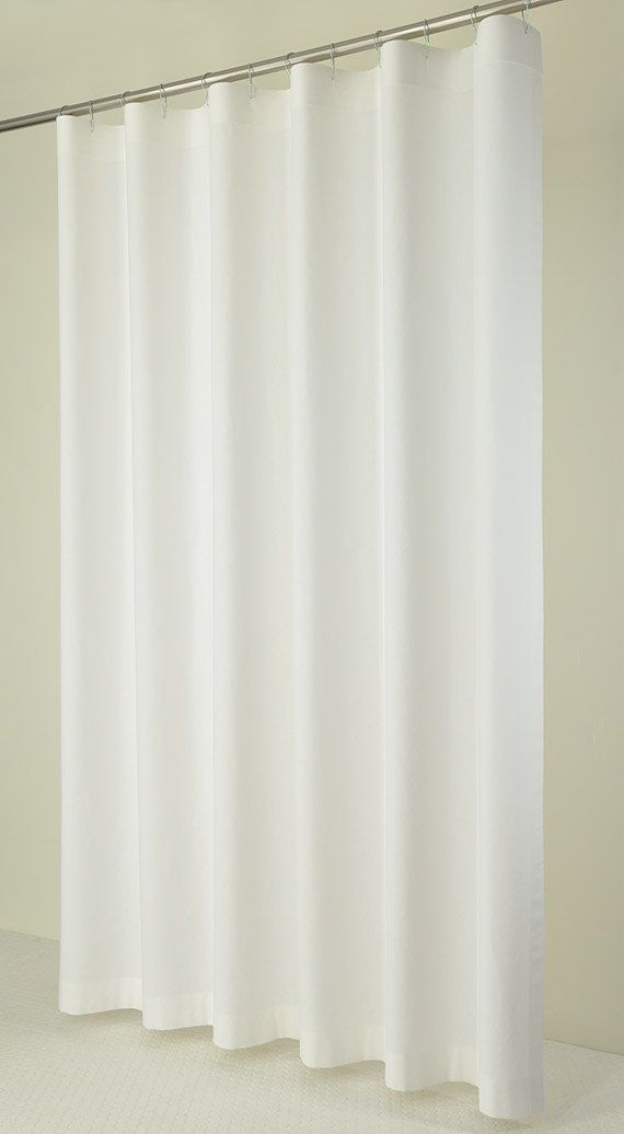 84 Long White Linen Shower Curtain 72 X 84 Long By Pondlilly Client Scott Pinterest