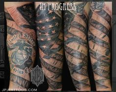 Patriotic+Tattoos+Black+and+White | Jose Perez Jr - American Flag