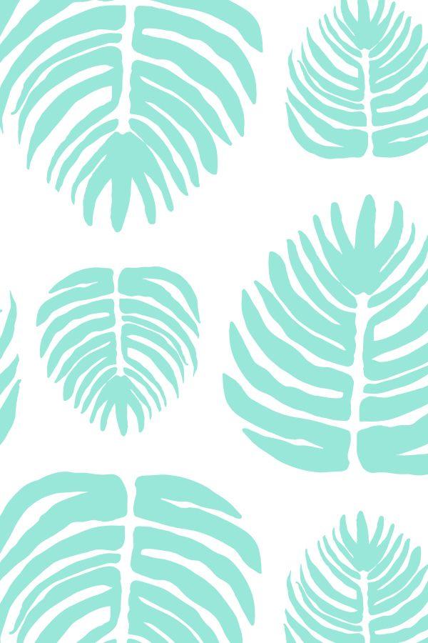 Pastel Palm, patterns by Caroline Cupcake. on Behance #SS15 #SS16 #tropical…