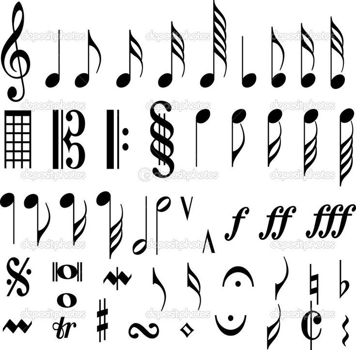 Musical Notes Display Posters Music Note Music Area Quaver Music Note Symbol Music Notes Drawing Music Tattoo Designs Music Notes Tattoo