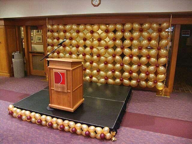 Elegant balloon wall