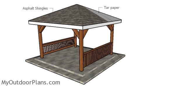 12x12 Hip Roof For Gazebo Diy Plans Myoutdoorplans Free Woodworking Plans And Projects Diy Shed Wooden Playhouse In 2020 Diy Gazebo Gazebo Wooden Gazebo Plans