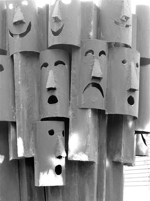 Faces by Pro Hart. Broken Hill, NSW