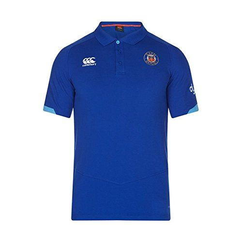 buy now   									£31.34 									  									Smart casual wear for when taking a break from the training and supporting your favourite team with the Canterbury Bath 2017/18 Players Cotton Pique Rugby Polo Shirt  ...Read More