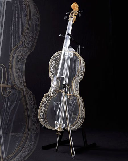 Glass cello made by Hario Glass Corporation in Japan