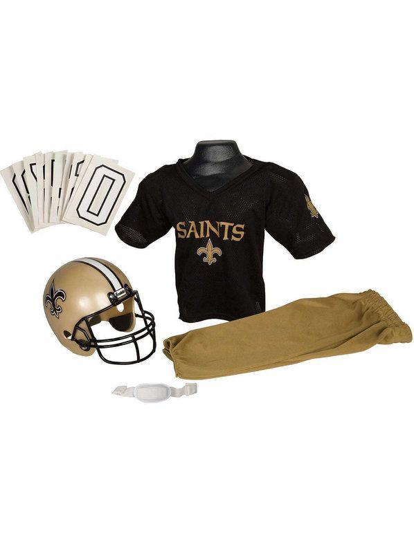 Halloween NFL Saints Childs Helmet and Uniform Set