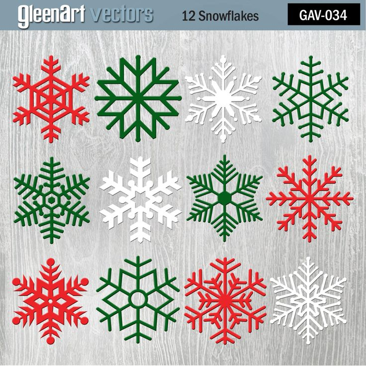 Christmas Digital Snowflakes/Glittered/Sparkle Christmas Snowflake Clipart/Frozen WinterSnowflakes/Red/Green/White/ INSTANT DOWNLOAD by GleenArt on Etsy