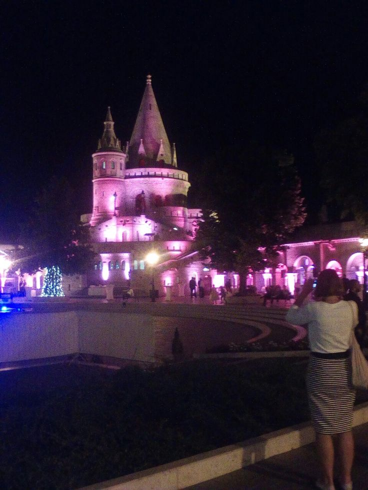 Budapest/ Halászbástya este
