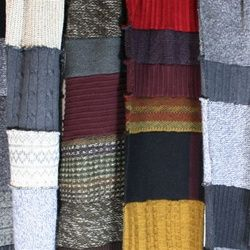 scrappy scarf from old sweaters would be fun for a Harry potter themed one.