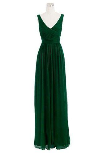 2016 Custom Charming Dark Green Prom Dress,Simple Sleeveless Evening Dress