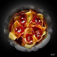 Lilia Maloratskiy - Orchids in a Silver Bowl...