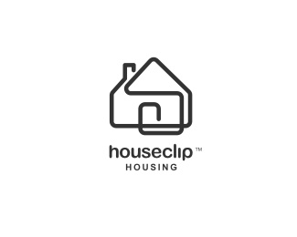 Great logo, identifies to the company. Looks like a paperclip bent into the shape of a house. Really simple, and not something you'd be likely to forget. Very clever with good contrast.